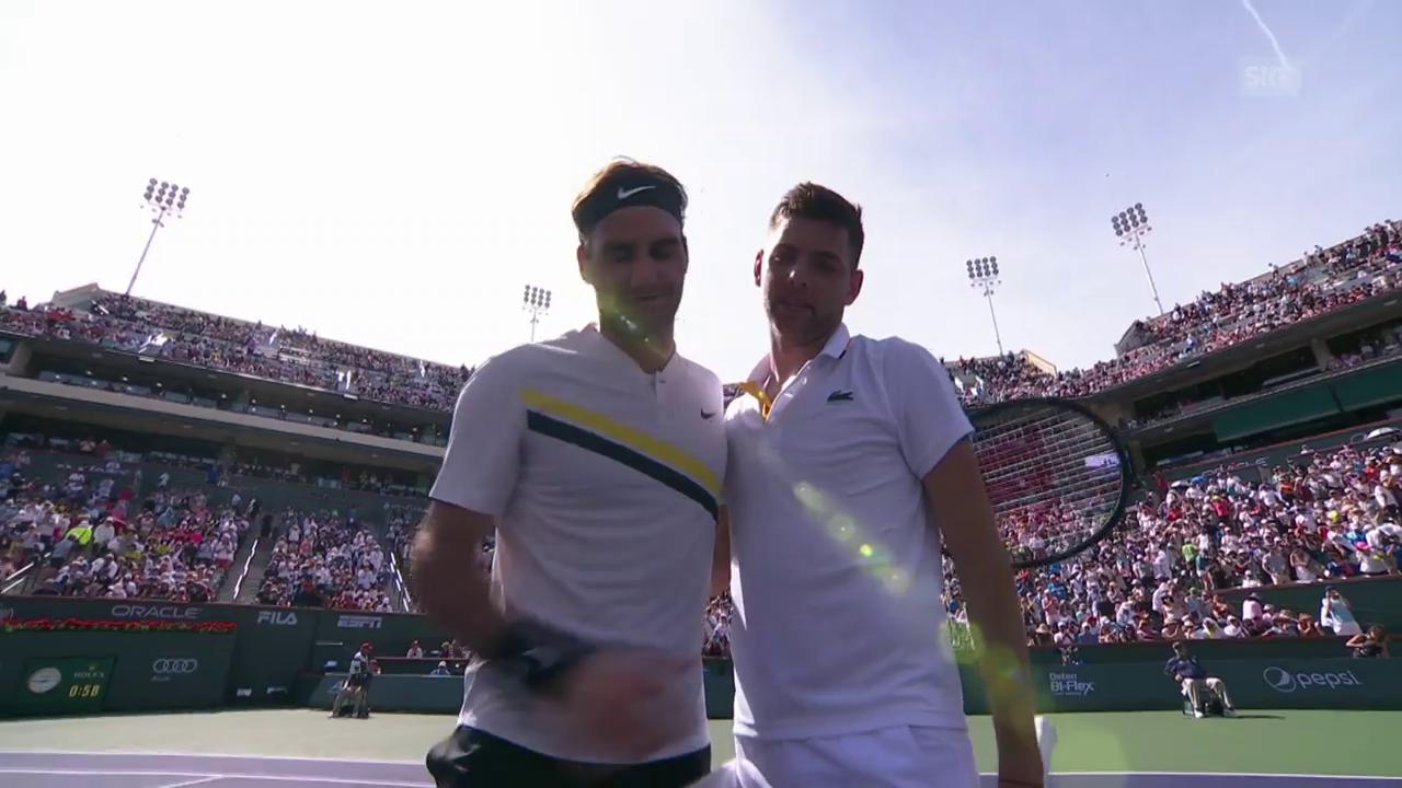 Federer schlägt Krajinovic klar
