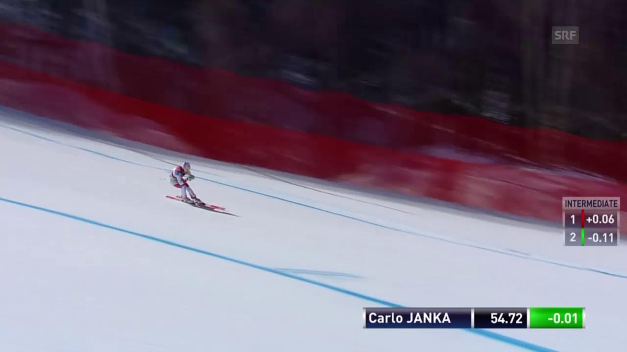 So schlägt sich Carlo Janka auf der Olympia-Strecke