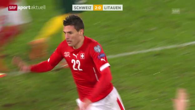 Video «Fussball: EM-Qualifikation, Schweiz - Litauen» abspielen
