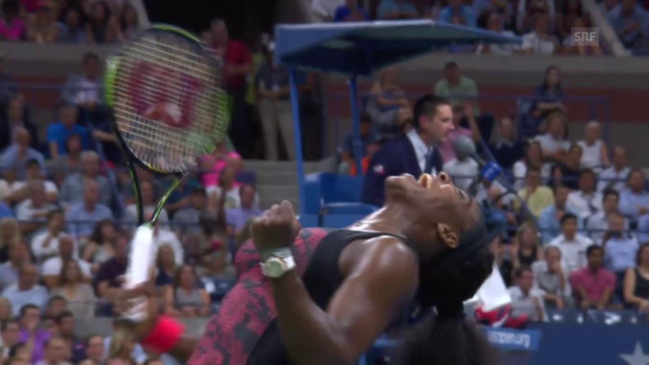 Tennis: Serena Williams gewinnt emotionales Schwestern-Duell