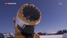 Video «Schneekanonen für einmal im Abseits» abspielen