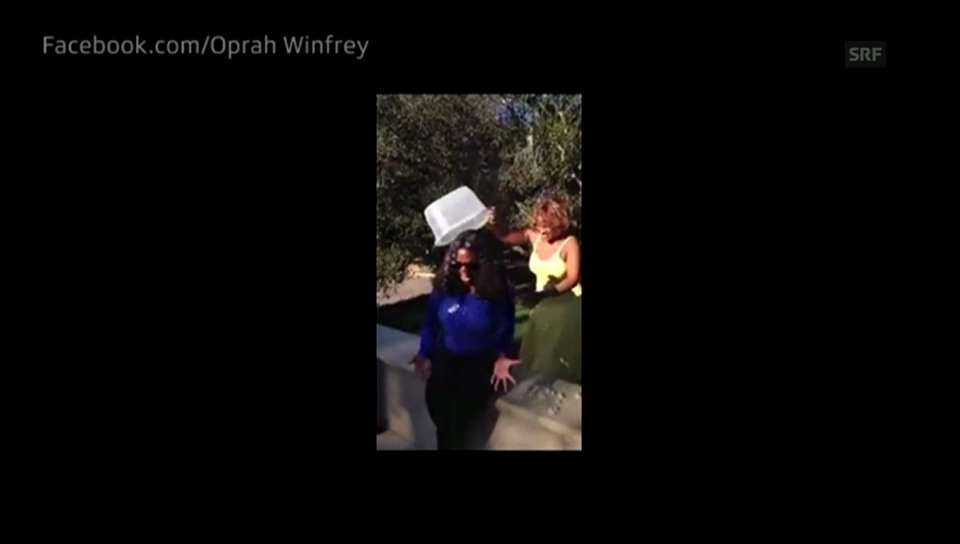 Oprah Winfreys Ice Bucket Challenge (Englischer Originalton)