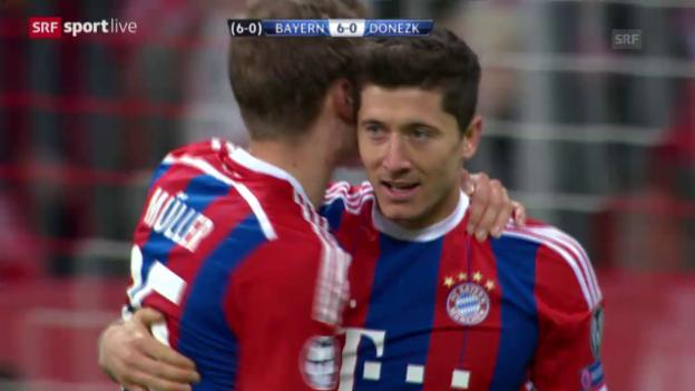 Video «Fussball: Champions League, Achtelfinal-Rückspiel, Bayern - Schachtar Donezk» abspielen