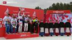 Video «Ski Nordisch: 4x10-km-Staffel der Männer in Falun» abspielen