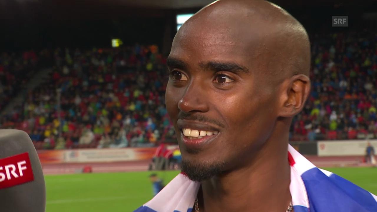 Leichtathletik: Mo Farah im Sieger-Interview