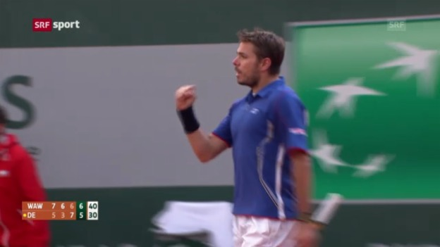 Video «Tennis: Zusammenfassung Wawrinka - De Bakker» abspielen