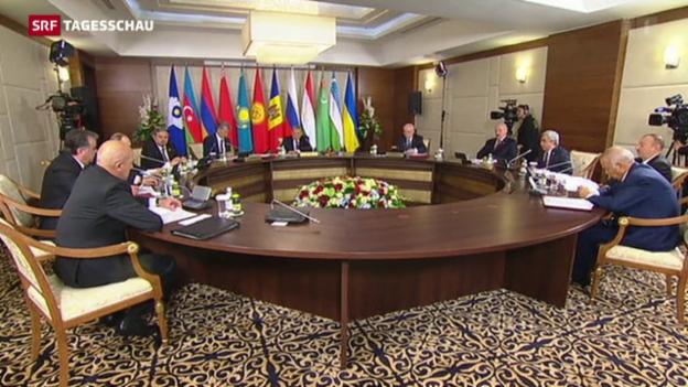 Video «Putin rechtfertigt Einsatz in Syrien» abspielen