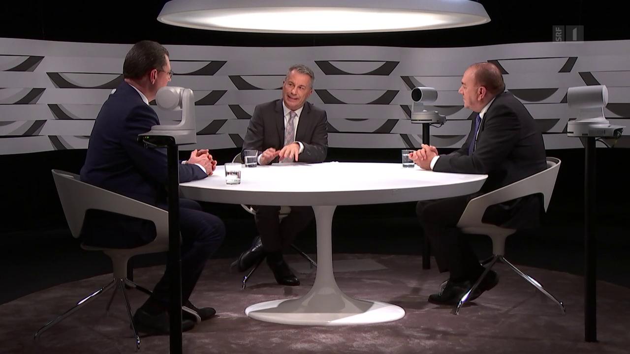 Wie gefährlich ist Bitcoin? Thomas Jordan und Axel Weber diskutieren mit Reto Lipp