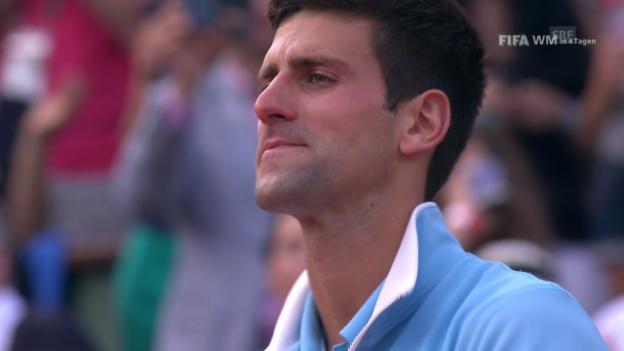 Video «Tennis: Dankesrede von Novak Djokovic» abspielen