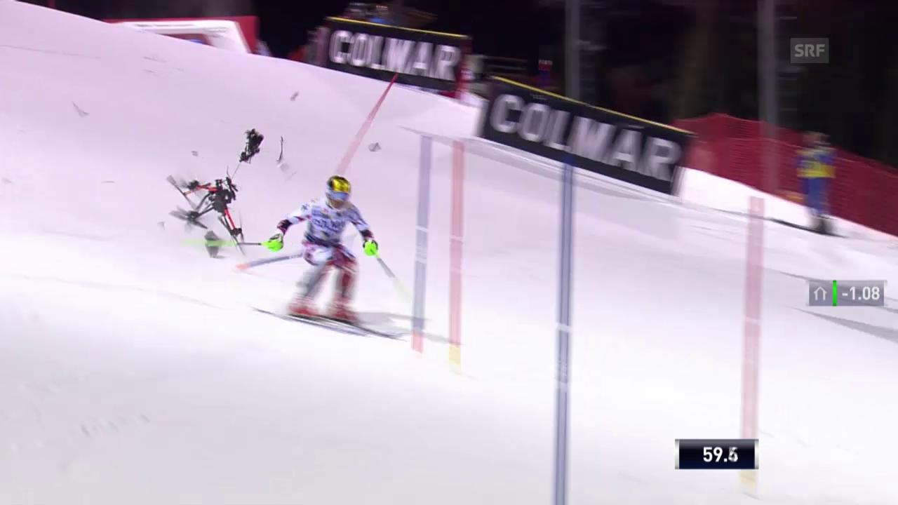 Ski: Weltcup, Slalom Madonna, Drohne Hirscher
