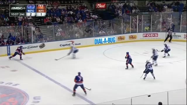 NHL: Die beiden Assists von Mark Streit bei New York Islandrs vs. Winnipeg Jets.(Quelle: SNTV)