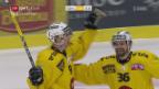 Video «Bern feiert gegen Genf einen 2:1-Overtime-Sieg» abspielen