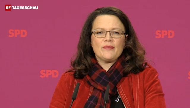 SPD-Generalsekretärin Andrea Nahles erteilt dem Abkommen eine Abfuhr.