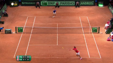Video «Davis Cup: Highlights Federer - Gasquet» abspielen