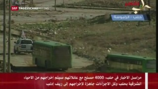 Video «Rebellen flüchten aus Aleppo» abspielen