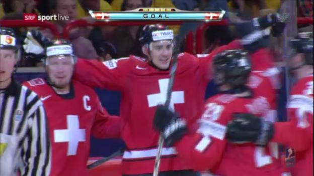 Video «Eishockey: WM 2013, Vorrunde, Highlights Schweden-Schweiz» abspielen