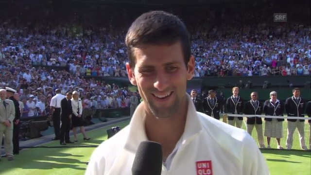 Novak Djokovic im Platz-Interview