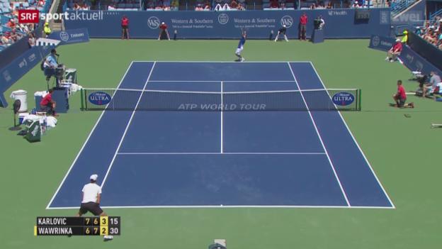 Video «Tennis: ATP-Turnier in Cincinnati» abspielen
