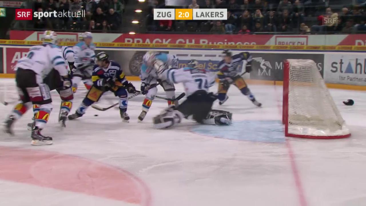 Eishockey: NLA 40. Runde Zug - Rapperswil