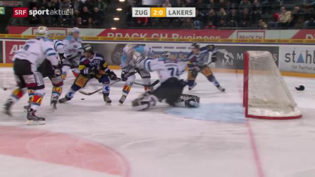 Video «Eishockey: NLA 40. Runde Zug - Rapperswil» abspielen