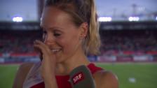 Video «Erstmals über 6000 Punkte: Siebenkämpferin Zeltner zeigt Emotionen» abspielen