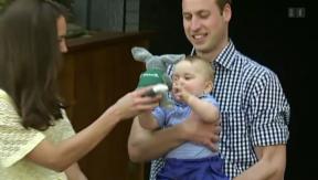 Video «Geburtstag & Geschenke: Prinz Georges erstes Wiegenfest naht» abspielen