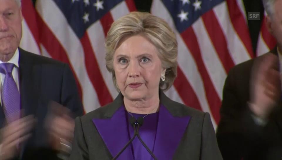 Clinton über ihre schmerzhafte Enttäuschung