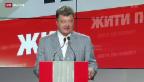 Video «Poroschenko sucht Dialog mit Russland» abspielen