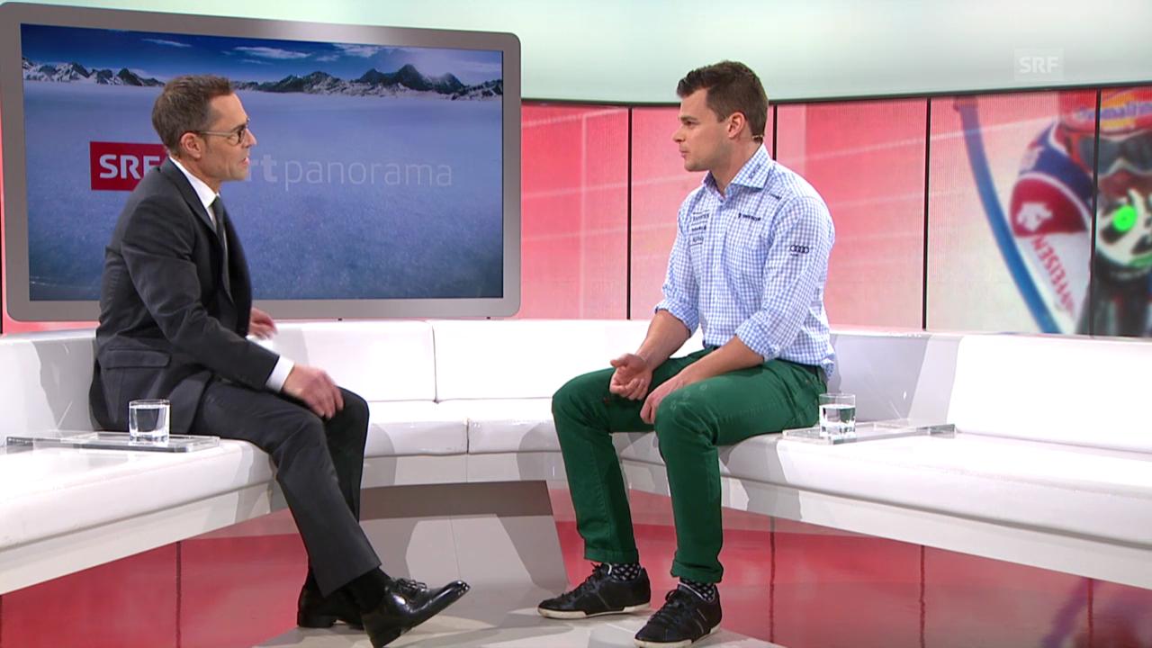 Ski: Patrick Küng über die Anfänge im Weltcup («sportpanorama», 15.12.2013)