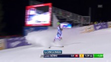 Video «Ski: Slalom, Madonna di Campiglio, 2. Lauf, Luca Aerni» abspielen