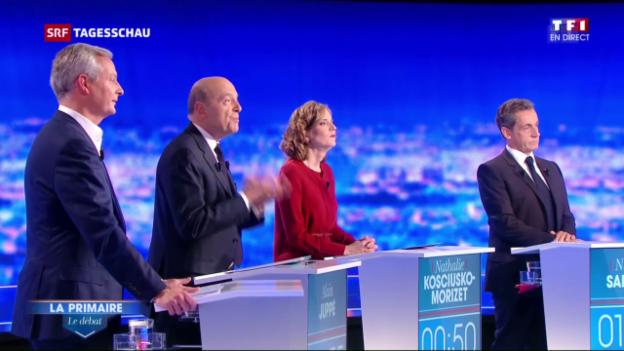 Video «Erste TV-Debatte der französischen Rechten» abspielen