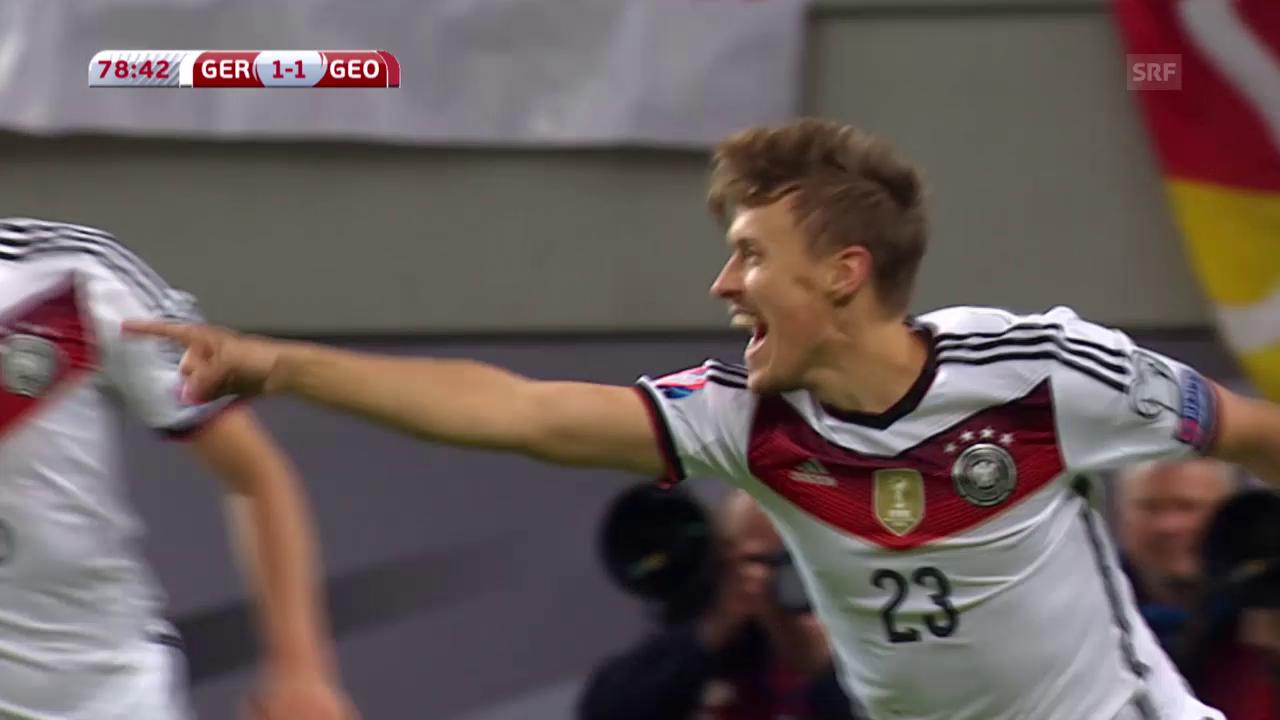 Fussball: EURO-Quali, Deutschland - Georgien