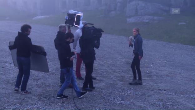 Video «Hinter den Kulissen von «Schweiz aktuell am Gotthard»» abspielen