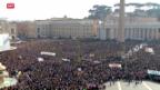 Video «Besucheransturm nach Papstrücktritt in Rom» abspielen