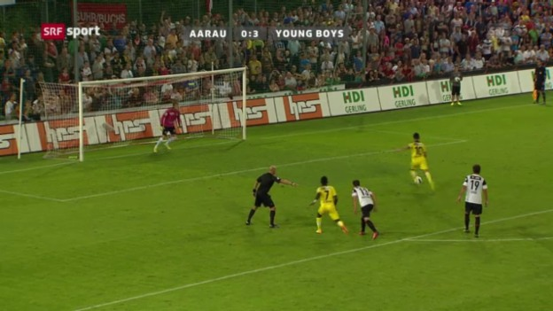Video «Fussball: Aarau - YB («sportaktuell»)» abspielen