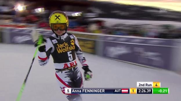 Video «Ski alpin: Riesenslalom Are, 2. Lauf Anna Fenninger («sportlive», 6.3.14)» abspielen