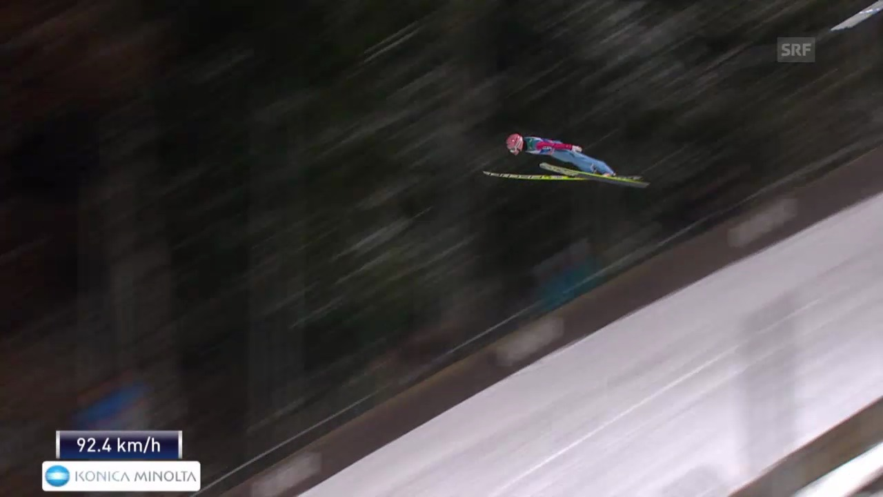 Skispringen: Vierschanzentournee Bischofshofen, der 2. Sprung von Stefan Kraft