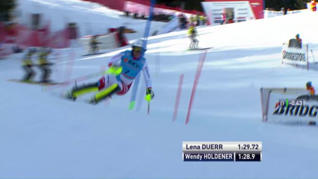 Video «Die Slalomfahrt von Wendy Holdener» abspielen