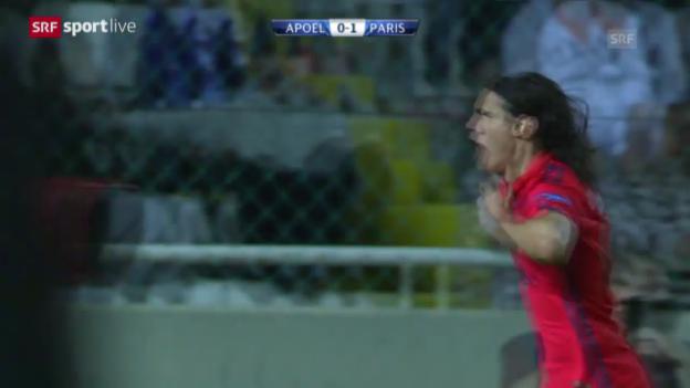 Video «Fussball: Champions-League, APOEL Nikosia - Paris St-Germain» abspielen