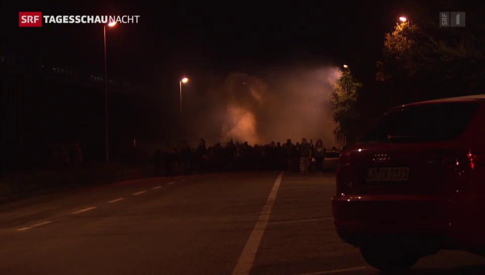 Kundgebung gegen Armeeübung in Basel eskaliert