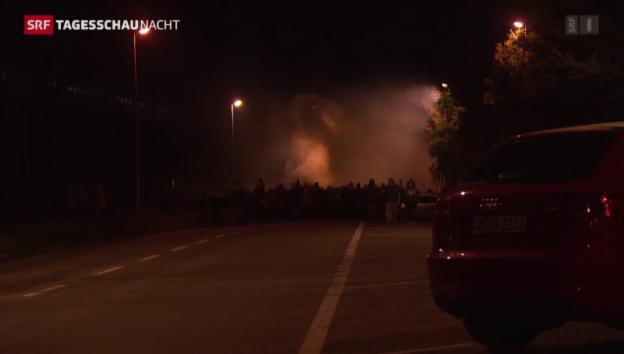 Video «Kundgebung gegen Armeeübung in Basel eskaliert» abspielen