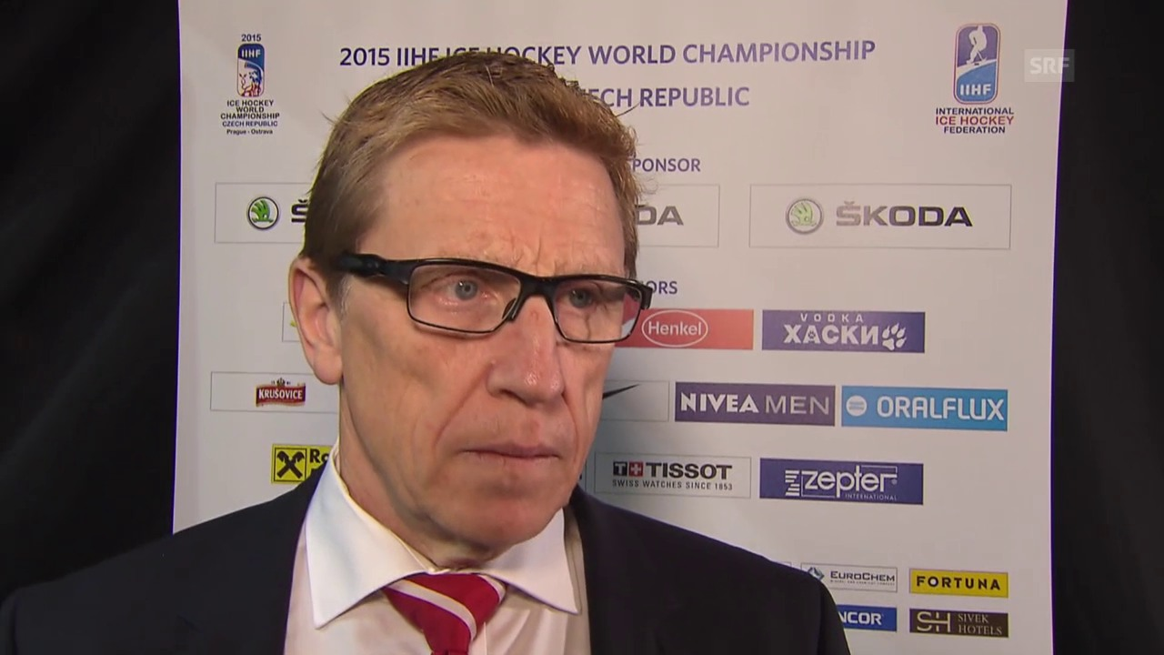 Eishockey-WM. Schweiz - Lettland, Interview Glen Hanlon