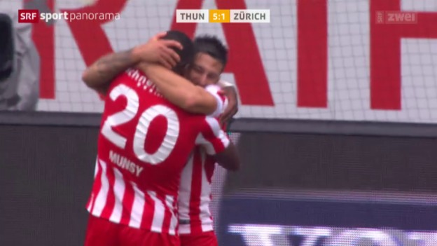 Video «Fussball: Super League, Thun - Zürich» abspielen