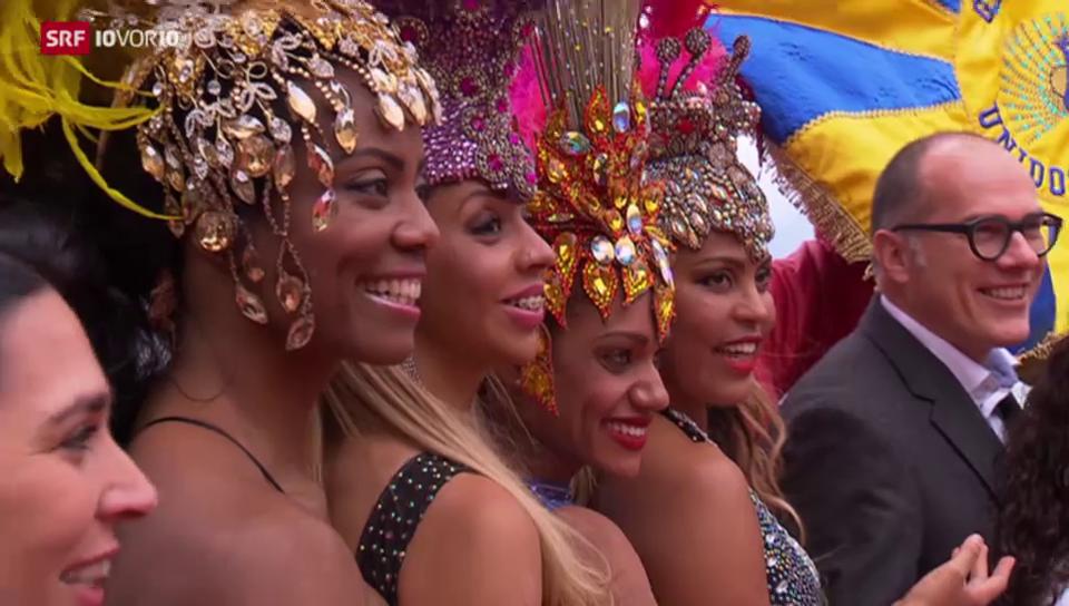 Die Schweiz am Karneval in Rio