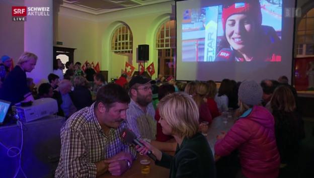 Video «Olympiagold für Dominique Gisin - Engelberg im Goldrausch» abspielen