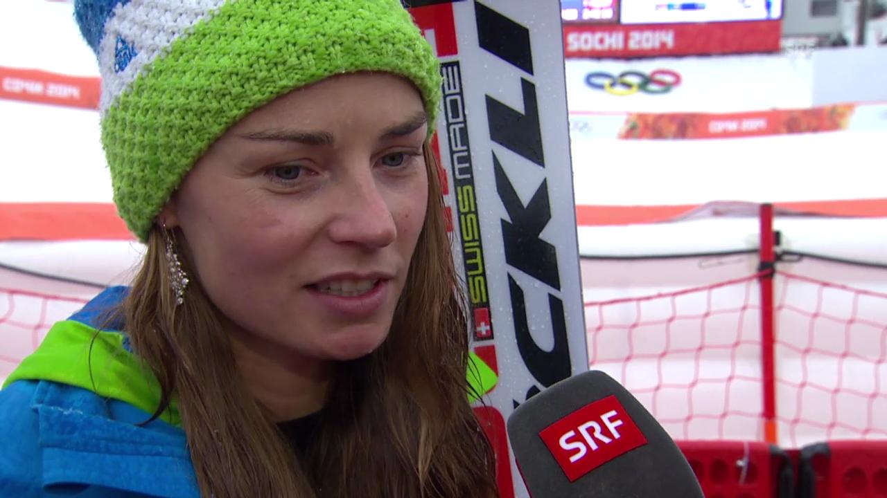 Ski: Riesenslalom Frauen, Interview mit Tina Maze (sotschi direkt, 18.2.2014)