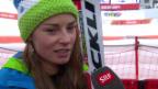 Video «Ski: Riesenslalom Frauen, Interview mit Tina Maze (sotschi direkt, 18.2.2014)» abspielen