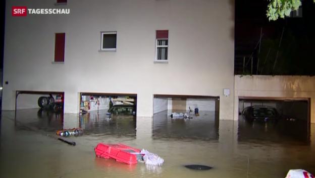 Video «Zwei Todesopfer nach Unwetter in der Schweiz» abspielen