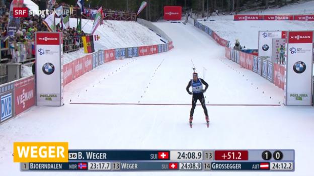 Video «Biathlon: Weltcup in Pokljuka, Männer 10 km Sprint» abspielen