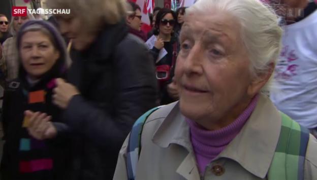 Video «Demo zum Frauentag» abspielen